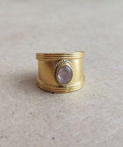 Rozenkwarts Ring Goud Kopen