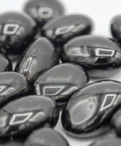 Zwart toermalijn trommelsteen